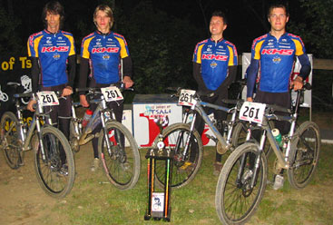 Team KHS/Kenda-cycleyouth.com winners of the 12 Hours of Tsali 4-Men's Division