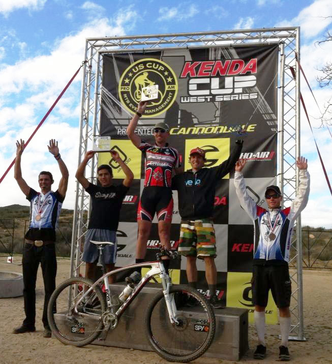 Vail Lake Podium Chuck Jenkins Cytomax/KHS 650B racer Chuck Jenkins Wins Kenda U.S. Cup West at Vail Lake