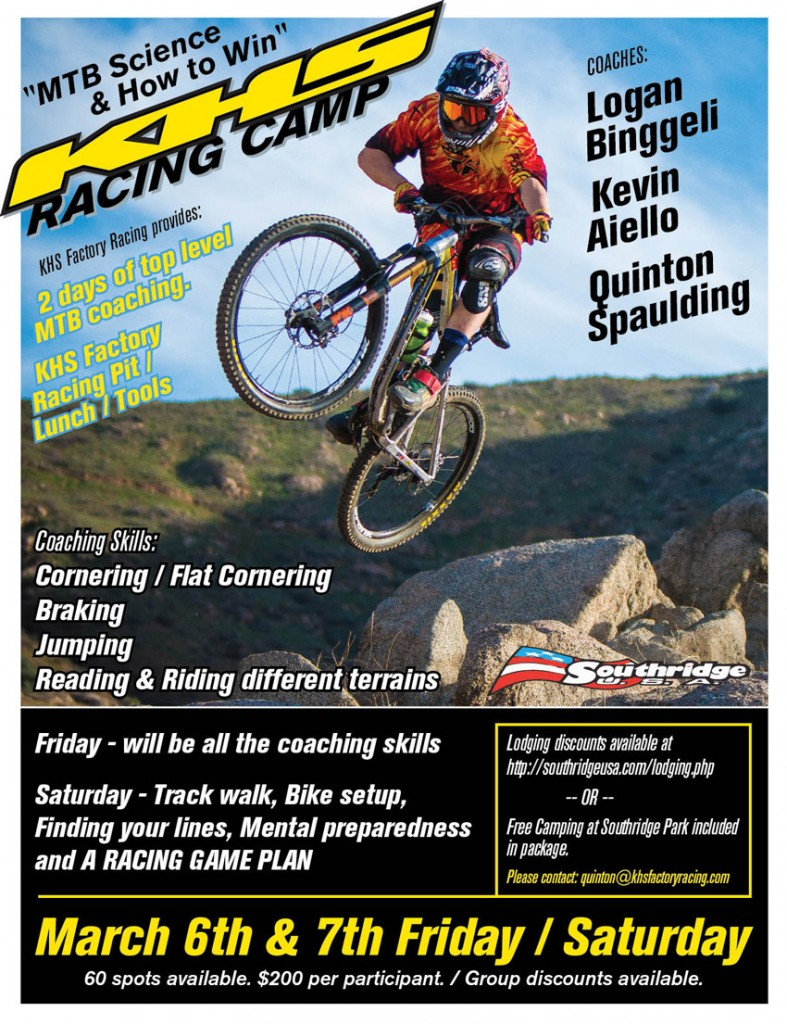KHS Racing Camp 2015 787x1024 KHS Racing Camp   March 6 & 7