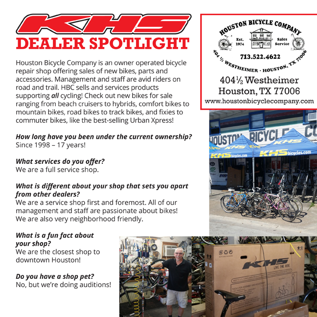 Dealer Spotlight, Houston Bicycle Company